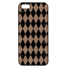 Diamond1 Black Marble & Brown Colored Pencil Apple Iphone 5 Seamless Case (black) by trendistuff