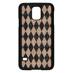Diamond1 Black Marble & Brown Colored Pencil Samsung Galaxy S5 Case (black) by trendistuff