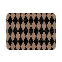 Diamond1 Black Marble & Brown Colored Pencil Double Sided Flano Blanket (mini) by trendistuff