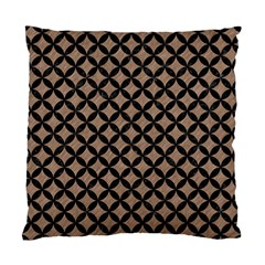 Circles3 Black Marble & Brown Colored Pencil (r) Standard Cushion Case (one Side) by trendistuff
