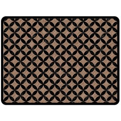Circles3 Black Marble & Brown Colored Pencil (r) Fleece Blanket (large) by trendistuff