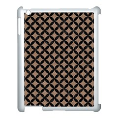 Circles3 Black Marble & Brown Colored Pencil (r) Apple Ipad 3/4 Case (white) by trendistuff