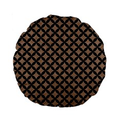 Circles3 Black Marble & Brown Colored Pencil (r) Standard 15  Premium Flano Round Cushion  by trendistuff