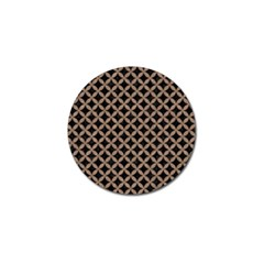 Circles3 Black Marble & Brown Colored Pencil Golf Ball Marker by trendistuff