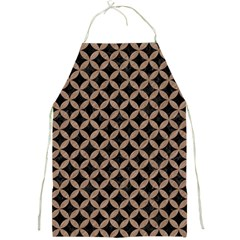 Circles3 Black Marble & Brown Colored Pencil Full Print Apron by trendistuff