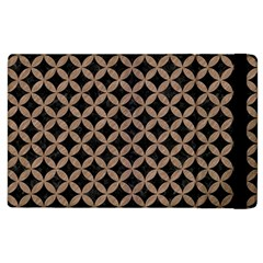 Circles3 Black Marble & Brown Colored Pencil Apple Ipad 2 Flip Case by trendistuff