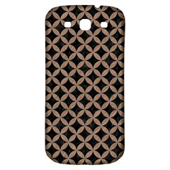 Circles3 Black Marble & Brown Colored Pencil Samsung Galaxy S3 S Iii Classic Hardshell Back Case by trendistuff