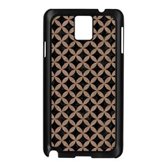Circles3 Black Marble & Brown Colored Pencil Samsung Galaxy Note 3 N9005 Case (black) by trendistuff
