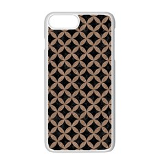 Circles3 Black Marble & Brown Colored Pencil Apple Iphone 7 Plus White Seamless Case by trendistuff
