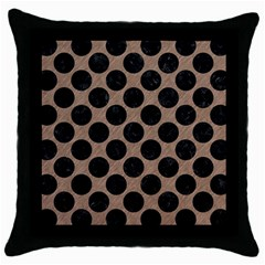Circles2 Black Marble & Brown Colored Pencil (r) Throw Pillow Case (black) by trendistuff