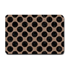 Circles2 Black Marble & Brown Colored Pencil (r) Small Doormat by trendistuff
