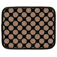 Circles2 Black Marble & Brown Colored Pencil Netbook Case (large) by trendistuff