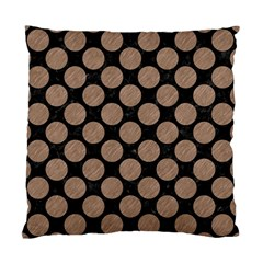 Circles2 Black Marble & Brown Colored Pencil Standard Cushion Case (two Sides) by trendistuff
