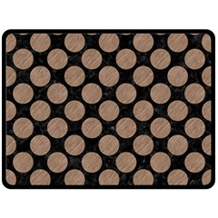 Circles2 Black Marble & Brown Colored Pencil Fleece Blanket (large) by trendistuff