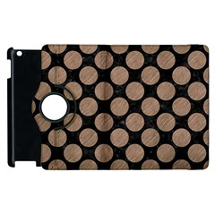 Circles2 Black Marble & Brown Colored Pencil Apple Ipad 2 Flip 360 Case by trendistuff