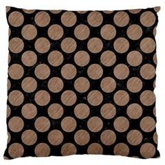 Circles2 Black Marble & Brown Colored Pencil Standard Flano Cushion Case (two Sides) by trendistuff