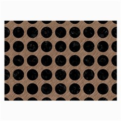 Circles1 Black Marble & Brown Colored Pencil (r) Large Glasses Cloth by trendistuff