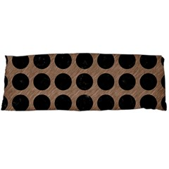 Circles1 Black Marble & Brown Colored Pencil (r) Body Pillow Case Dakimakura (two Sides) by trendistuff