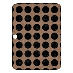 Circles1 Black Marble & Brown Colored Pencil (r) Samsung Galaxy Tab 3 (10 1 ) P5200 Hardshell Case  by trendistuff