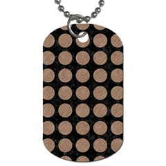 Circles1 Black Marble & Brown Colored Pencil Dog Tag (one Side) by trendistuff