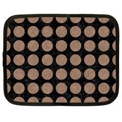 Circles1 Black Marble & Brown Colored Pencil Netbook Case (xxl) by trendistuff