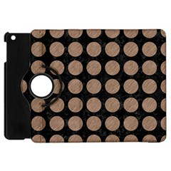 Circles1 Black Marble & Brown Colored Pencil Apple Ipad Mini Flip 360 Case by trendistuff