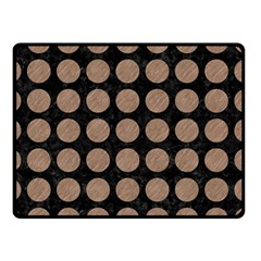 Circles1 Black Marble & Brown Colored Pencil Double Sided Fleece Blanket (small) by trendistuff