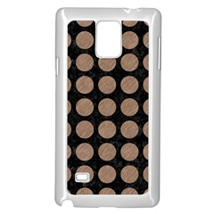 Circles1 Black Marble & Brown Colored Pencil Samsung Galaxy Note 4 Case (white) by trendistuff