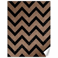 Chevron9 Black Marble & Brown Colored Pencil (r) Canvas 12  X 16  by trendistuff