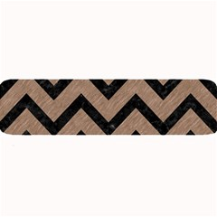Chevron9 Black Marble & Brown Colored Pencil (r) Large Bar Mat by trendistuff