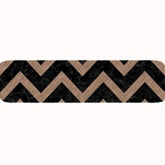 Chevron9 Black Marble & Brown Colored Pencil Large Bar Mat by trendistuff
