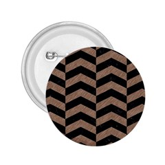 Chevron2 Black Marble & Brown Colored Pencil 2 25  Button by trendistuff