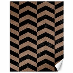 Chevron2 Black Marble & Brown Colored Pencil Canvas 36  X 48  by trendistuff