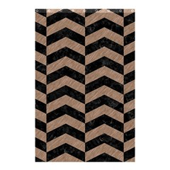Chevron2 Black Marble & Brown Colored Pencil Shower Curtain 48  X 72  (small) by trendistuff