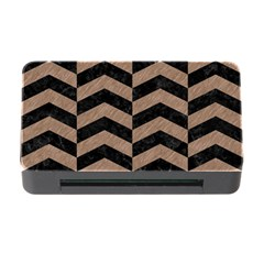 Chevron2 Black Marble & Brown Colored Pencil Memory Card Reader With Cf by trendistuff
