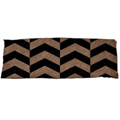 Chevron2 Black Marble & Brown Colored Pencil Body Pillow Case Dakimakura (two Sides) by trendistuff