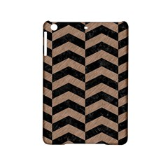 Chevron2 Black Marble & Brown Colored Pencil Apple Ipad Mini 2 Hardshell Case by trendistuff