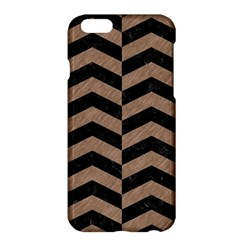 Chevron2 Black Marble & Brown Colored Pencil Apple Iphone 6 Plus/6s Plus Hardshell Case by trendistuff