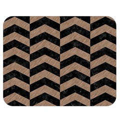 Chevron2 Black Marble & Brown Colored Pencil Double Sided Flano Blanket (medium) by trendistuff