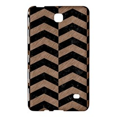 Chevron2 Black Marble & Brown Colored Pencil Samsung Galaxy Tab 4 (7 ) Hardshell Case  by trendistuff