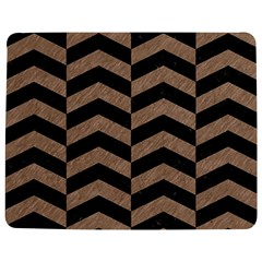 Chevron2 Black Marble & Brown Colored Pencil Jigsaw Puzzle Photo Stand (rectangular) by trendistuff