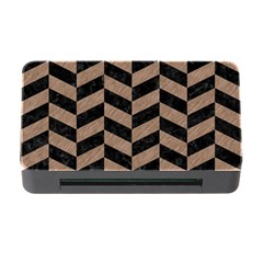 Chevron1 Black Marble & Brown Colored Pencil Memory Card Reader With Cf by trendistuff