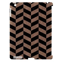 Chevron1 Black Marble & Brown Colored Pencil Apple Ipad 3/4 Hardshell Case (compatible With Smart Cover) by trendistuff
