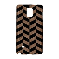 Chevron1 Black Marble & Brown Colored Pencil Samsung Galaxy Note 4 Hardshell Case by trendistuff