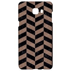 Chevron1 Black Marble & Brown Colored Pencil Samsung C9 Pro Hardshell Case  by trendistuff