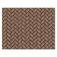 Brick2 Black Marble & Brown Colored Pencil (r) Jigsaw Puzzle (rectangular) by trendistuff