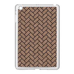 Brick2 Black Marble & Brown Colored Pencil (r) Apple Ipad Mini Case (white) by trendistuff