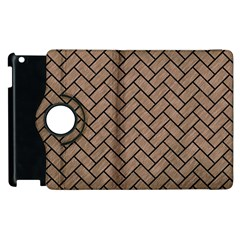Brick2 Black Marble & Brown Colored Pencil (r) Apple Ipad 2 Flip 360 Case by trendistuff