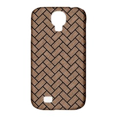 Brick2 Black Marble & Brown Colored Pencil (r) Samsung Galaxy S4 Classic Hardshell Case (pc+silicone)