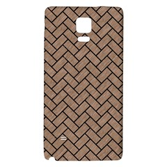 Brick2 Black Marble & Brown Colored Pencil (r) Samsung Note 4 Hardshell Back Case by trendistuff